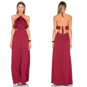 House Of Harlow • NWT Red Zoe Halter Maxi Dress